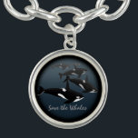 """Orca Whale Bracelet Killer Whale Art Jewelry<br><div class=""""desc"""">Orca Whale Bracelets & Necklaces Wildlife Marine Animals Art Bracelet & Jewelry Spirit Animals Romantic Killer Whales Bracelets & Necklaces Orca Gifts for Men Women, Boys & Girls Canadian Marine-life Art Keepsakes & Orca Accessories Click """"Customize"""" to Add Text, Choose Font and Custom Colours Personalized Black & White Whale Art...</div>"""
