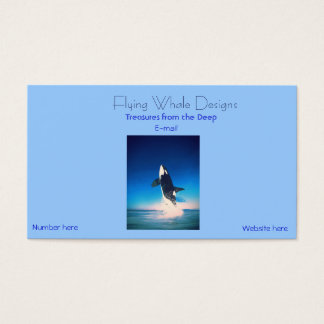 Orca whale breaching business card