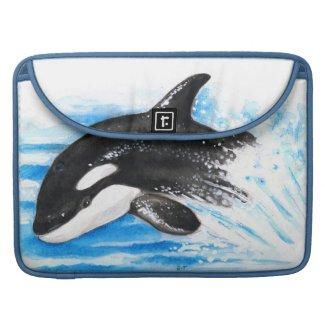 Orca Whale Breaching MacBook Pro Sleeve