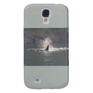 Orca Whale Breaths Out Mist in Whale Rich San Juan Samsung Galaxy S4 Case