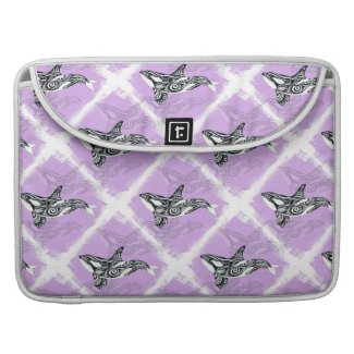 Orca Whale Brushed Tribal Pink Doodle MacBook Pro Sleeve