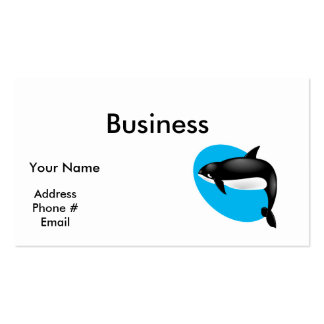 orca whale business cards