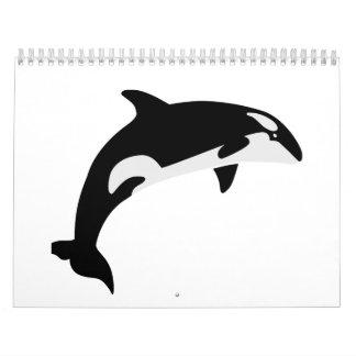 Orca whale calendar