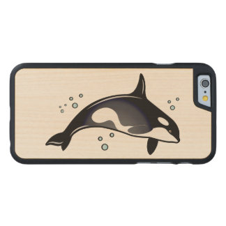 Orca Whale Carved Maple iPhone 6 Slim Case