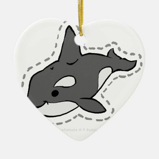 ORCA_WHALE CERAMIC ORNAMENT