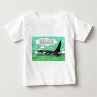 Orca Whale Christmas Green Sea Merry Christmas Baby T-Shirt