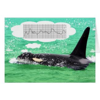 Orca Whale Christmas Green Sea Merry Christmas Card