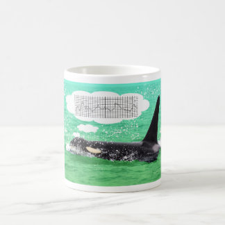 Orca Whale Christmas Green Sea Merry Christmas Coffee Mugs