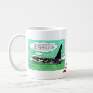 Orca Whale Christmas Green Sea Merry Christmas Mug