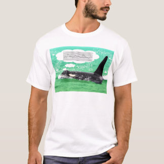 Orca Whale Christmas Green Sea Merry Christmas T-Shirt