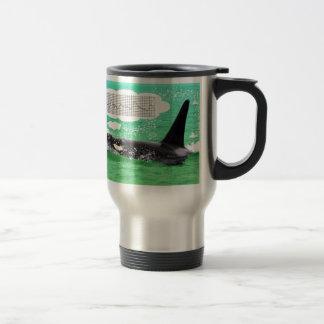 Orca Whale Christmas Green Sea Merry Christmas Travel Mug