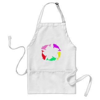 Orca Whale Circle in Five Colors Aprons
