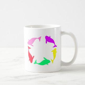 Orca Whale Circle in Five Colors Mug