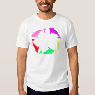 Orca Whale Circle in Five Colors T-shirt