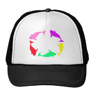 Orca Whale Circle in Five Colors Trucker Hat