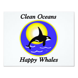 Orca Whale Clean Oceans Happy Whales Card
