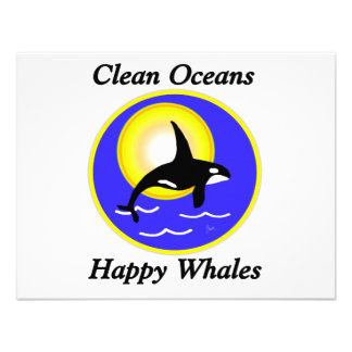 Orca Whale Clean Oceans Happy Whales Personalized Invite