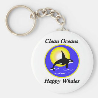 Orca Whale Clean Oceans Happy Whales Key Chains