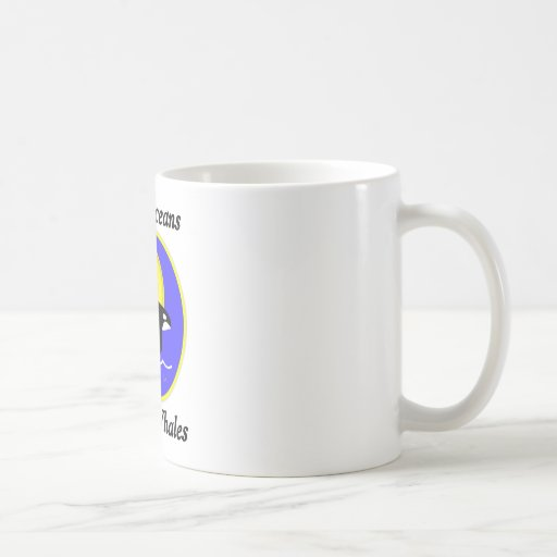 Orca Whale Clean Oceans Happy Whales Mugs