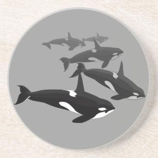 Orca Whale Coasters Killer Whale Art Drink Coaster