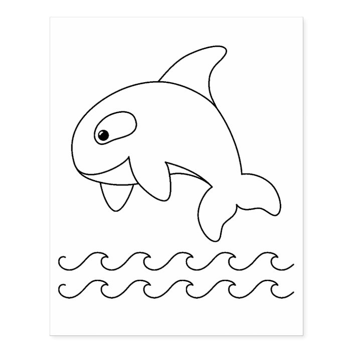 Cute Killer Whale is Jumping Out Of Water coloring page | Free ... | 704x704