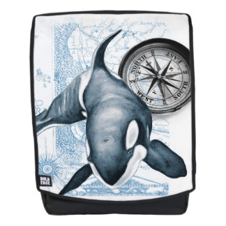Orca Whale Compass Backpack