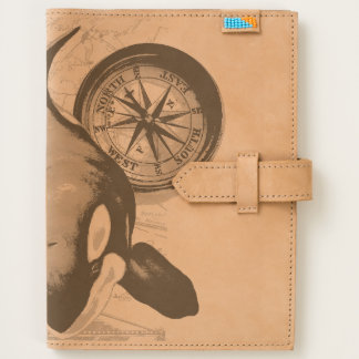 Orca Whale Compass Journal