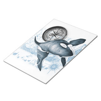 Orca Whale Compass Notepad