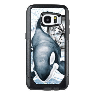 Orca Whale Compass OtterBox Samsung Galaxy S7 Edge Case