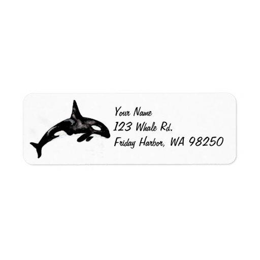 Orca Whale Custom Return Address Labels