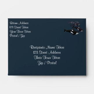 Orca Whale Envelopes Killer Whale Custom Envelope