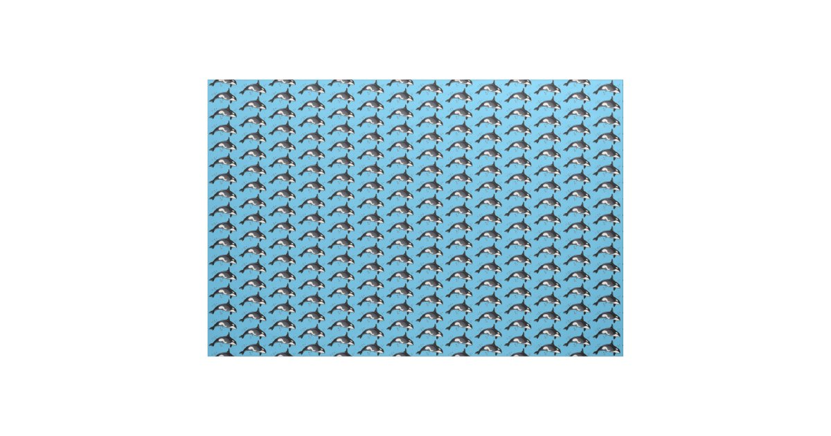 Orca whale fabric zazzle for Whale fabric