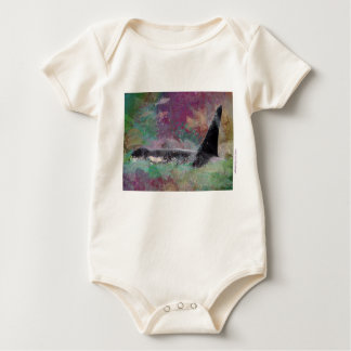 Orca Whale Fantasy Dream - I Love Whales Baby Bodysuit