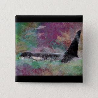 Orca Whale Fantasy Dream - I Love Whales Button