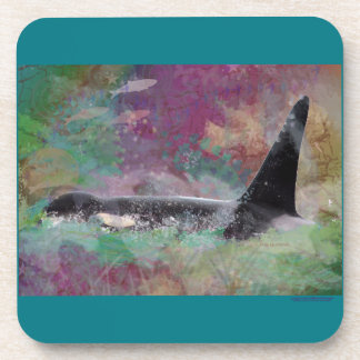 Orca Whale Fantasy Dream - I Love Whales Drink Coaster