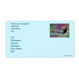 Orca Whale Fantasy Dream - I Love Whales Label