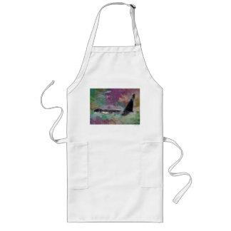 Orca Whale Fantasy Dream - I Love Whales Long Apron