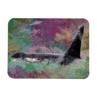 Orca Whale Fantasy Dream - I Love Whales Magnet