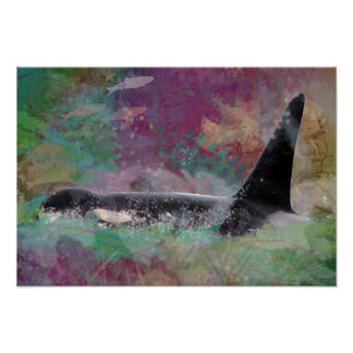 Orca Whale Fantasy Dream - I Love Whales Poster