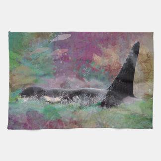 Orca Whale Fantasy Dream - I Love Whales Towel