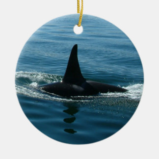Orca Whale Fin Christmas Ornament