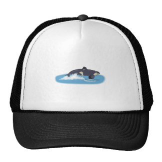 Orca Whale Mesh Hat