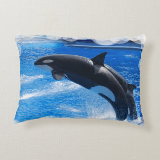 Orca Whale Accent Pillow