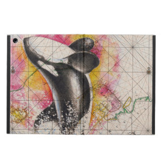 orca whale map case for iPad air