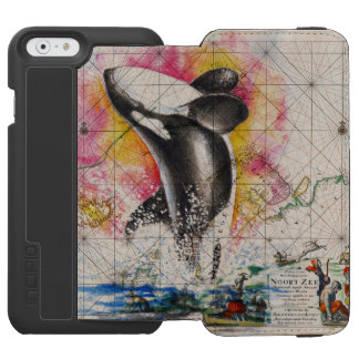 orca whale map iPhone 6/6s wallet case
