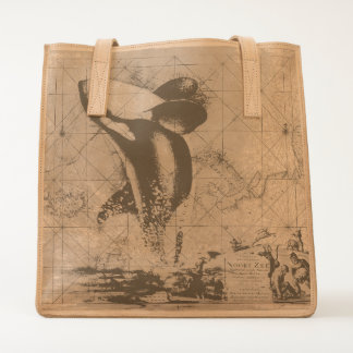 orca whale map tote