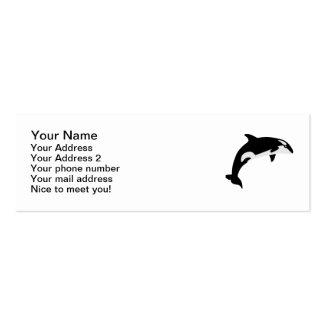 Orca whale mini business card