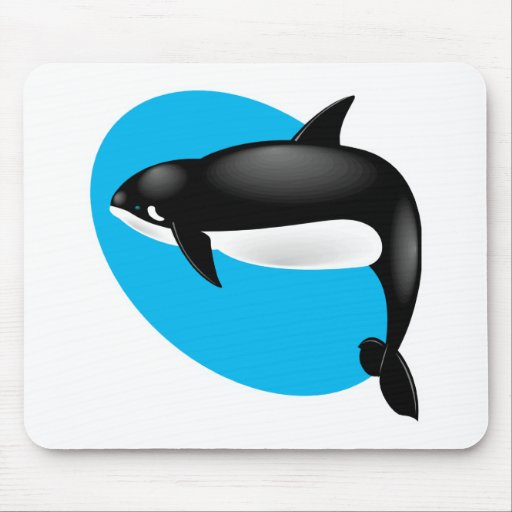orca whale mouse pad