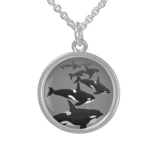 Orca Whale Necklace Killer Whale Art Jewelry