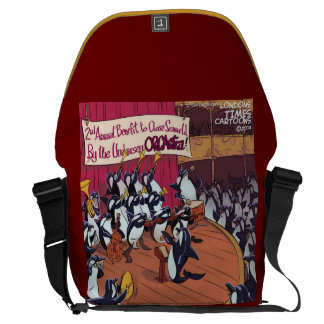 Orca Whale Orchestra Large Messenger Bag
